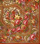 Щасливиця 1122-3, павлопосадский хустку (шаль) з ущільненої вовни з шовковою бахромою в'язаної, фото 8