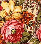 Щасливиця 1122-3, павлопосадский хустку (шаль) з ущільненої вовни з шовковою бахромою в'язаної, фото 2
