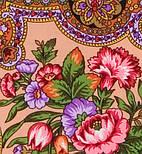 Юлия 1230-7, павлопосадский платок (шаль) из уплотненной шерсти с шелковой вязанной бахромой, фото 4