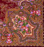 Юлия 1230-7, павлопосадский платок (шаль) из уплотненной шерсти с шелковой вязанной бахромой, фото 5