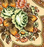 Юлия 1230-17, павлопосадский платок (шаль) из уплотненной шерсти с шелковой вязанной бахромой, фото 3