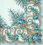 Лариса 322-8, павлопосадский платок шерстяной (с просновками) с шелковой бахромой, фото 2