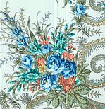 Лариса 322-8, павлопосадский платок шерстяной (с просновками) с шелковой бахромой, фото 3