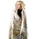 Отрада 678-3, павлопосадский платок шерстяной  с шерстяной бахромой, фото 9