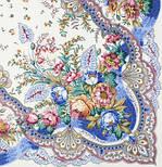 Отрада 678-4, павлопосадский платок шерстяной  с шерстяной бахромой, фото 2