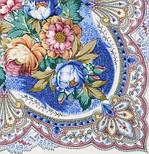 Отрада 678-4, павлопосадский платок шерстяной  с шерстяной бахромой, фото 3