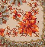Багрянец осени 1545-1, павлопосадский платок шерстяной с шерстяной бахромой, фото 3