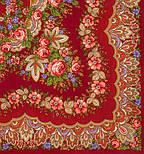 Романтика 1381-5, павлопосадский платок шерстяной  с шелковой бахромой, фото 2