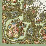 Сольвейг 1549-3, павлопосадский вовняну хустку з шовковою бахромою, фото 4