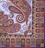 Фаворит 1344-13, павлопосадский платок шерстяной с шелковой бахромой, фото 2