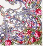 Милий друг 1345-1, павлопосадский вовняну хустку з шовковою бахромою, фото 2