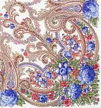 Милий друг 1345-4, павлопосадский вовняну хустку з шовковою бахромою, фото 9
