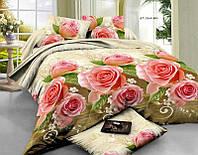 Полуторный набор постельного белья 150*220 Полиэстер №162 Черешенка™
