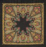 Рождественский 766-18, павлопосадский платок шерстяной  с шелковой бахромой, фото 2