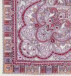 Російське золото 529-7, павлопосадский вовняну хустку з шовковою бахромою, фото 3