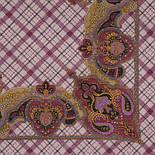 Шотландский напев 1001-1, павлопосадский платок шерстяной  с оверлоком, фото 2