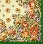 Южанка 1387-9, павлопосадский платок шерстяной с шерстяной бахромой, фото 2