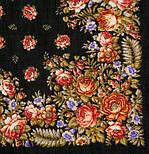 Южанка 1387-18, павлопосадский платок шерстяной с шерстяной бахромой, фото 2