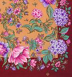Цветомания 1439-7, павлопосадский платок шерстяной  с шелковой бахромой, фото 2