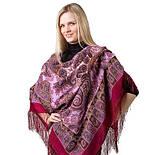Фаворит 1344-6, павлопосадский платок шерстяной с шелковой бахромой, фото 3