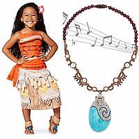 Карнавальный костюм Моана Дисней+Ожерелье Моаны поющая ракушка – амулет сердцеТе Фити ( Ваяна)  Disney Store