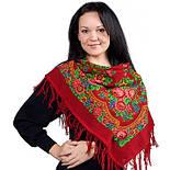 Матрешка 190-5, павлопосадский платок шерстяной с шерстяной бахромой, фото 2