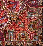 Шафран 1155-18, павлопосадский платок шерстяной  с шелковой бахромой, фото 3