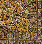 Шафран 1155-10, павлопосадский вовняну хустку з шовковою бахромою, фото 2
