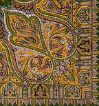 Шафран 1155-10, павлопосадский вовняну хустку з шовковою бахромою, фото 3