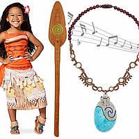Карнавальный костюм Моана Дисней+ весло и поющая ракушка – амулет сердцеТе Фити ( Ваяна)  Disney Store
