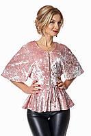 Женская бархатная блуза размеры 44,46,48,50,52