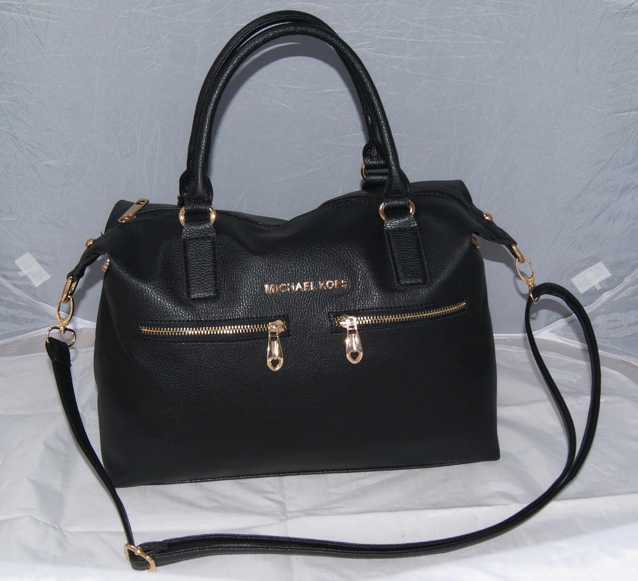 Черная женская сумка Mісhаеl Коrs, в стиле Майкл Корс, MK ( код: IBG046B )