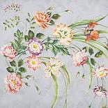 Лунный сад 10018-2, павлопосадский платок (атлас) шелковый с подрубкой, фото 2