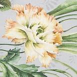 Лунный сад 10018-2, павлопосадский платок (атлас) шелковый с подрубкой, фото 3