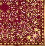 Песня ветра 1337-8, павлопосадский платок (шаль, крепдешин) шелковый с шелковой бахромой, фото 3