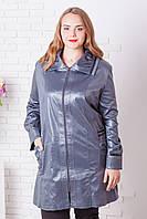 Женская кожаная куртка больших размеров (рр 60-68), разные цвета