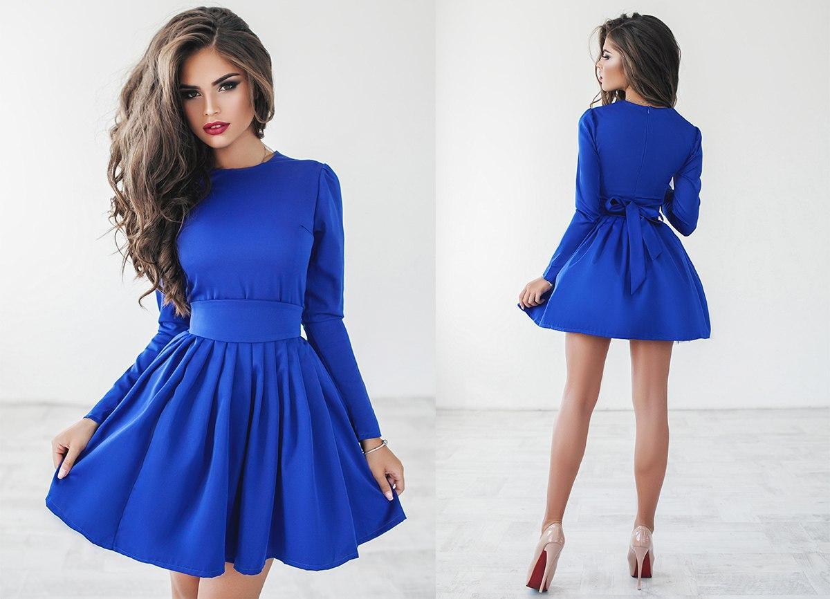 0a8e2aa571ab979 Пышное короткое платье с фатиновым подъюбником - Интернет-магазин