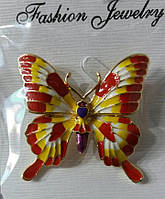 610 Цветные броши бабочки оптом