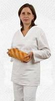 Костюм пекаря универсальный, длинный рукав, поварская форма