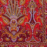 Омана 1338-55, павлопосадский шарф-палантин вовняної з шовковою бахромою, фото 2