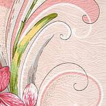 Танцующие орхидеи 1444-1, павлопосадский платок (жаккард) шелковый с подрубкой, фото 4