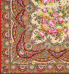 Славянка 1465-5, павлопосадский платок (шаль) из уплотненной шерсти с шелковой вязанной бахромой, фото 2