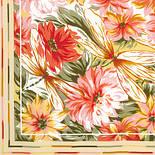 Мимолетное виденье 1407-1, павлопосадский шейный платок (крепдешин) шелковый с подрубкой, фото 9