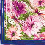 Мимолетное виденье 1407-13, павлопосадский шейный платок (крепдешин) шелковый с подрубкой, фото 3