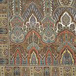 Царский 1159-51, павлопосадский шарф-палантин шерстяной с шелковой бахромой, фото 9