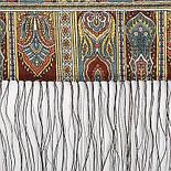 Царский 1159-51, павлопосадский шарф-палантин шерстяной с шелковой бахромой, фото 10