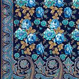 Расцветающие камни 1442-65, павлопосадский шарф-палантин шерстяной с шелковой бахромой, фото 2