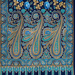 Расцветающие камни 1442-65, павлопосадский шарф-палантин шерстяной с шелковой бахромой, фото 3
