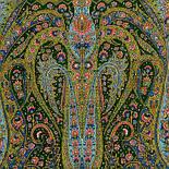 Русалка 1156-59, павлопосадский шарф-палантин шерстяной с шелковой бахромой, фото 3