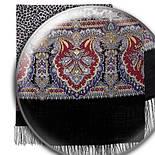 Леопардовые сны 1295-18, павлопосадский шарф шерстяной  с шелковой бахромой, фото 2